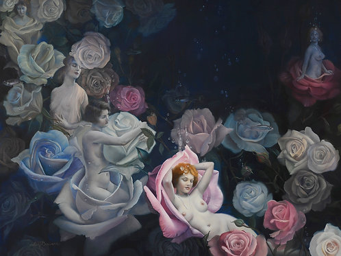 Girls N' Roses, 16 x 20, oil on Belgian linen