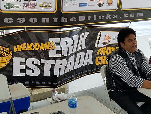 The Erik Estrada banner was one of many