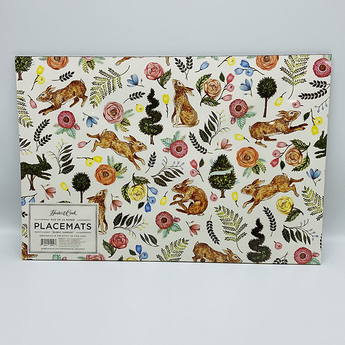 Hester & Cook Bunny Garden Placemat