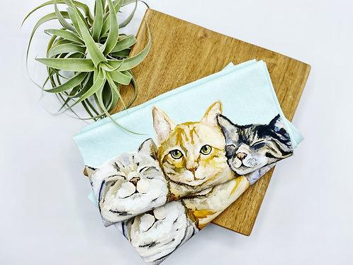 Feline Tea Towel