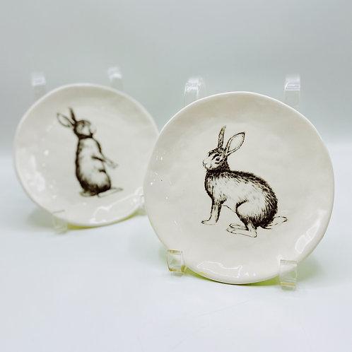 Ceramic Rabbit Plates