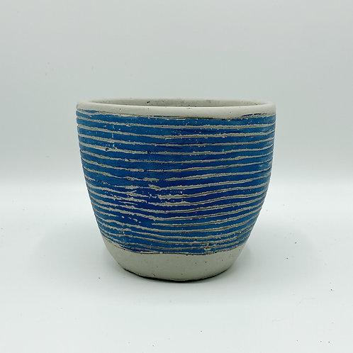 Santa Fe Blue Striped Pot