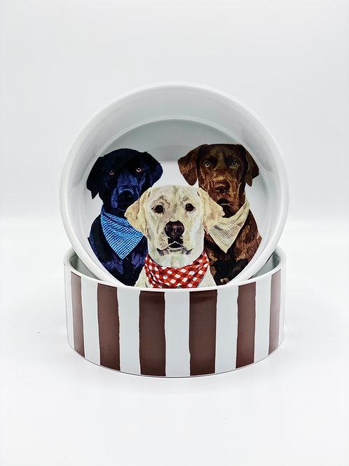 Three Musketeers Dog Bowl