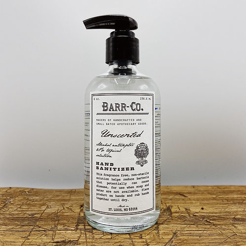 Barr + Co. Unscented Hand Sanitizer (8 oz)