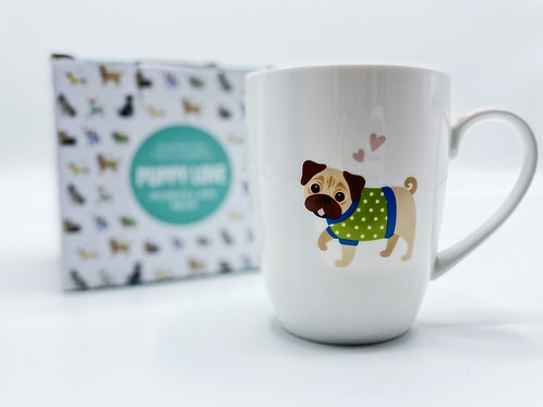 Puppy Love Porcelain Dog Mug