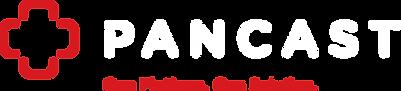 PANCAST wordmark, icon & tagline (horizo