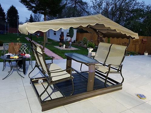Floating 4 Seater Garden Swing