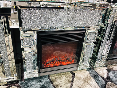 Crushed Diamond Mirrored Fireplace (SF450)
