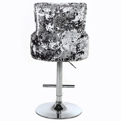 Majestic crushed velvet bar stool
