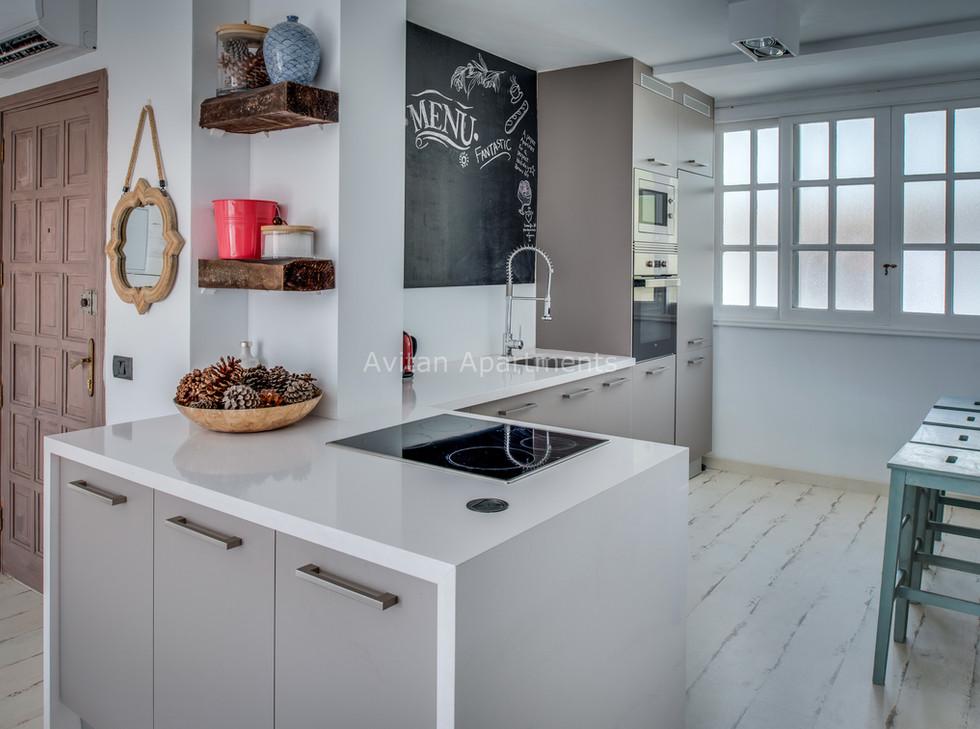 Kitchen  of Avitan Loft-1