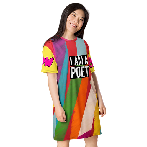 'THE PLAYFUL' POETRY T-SHIRT DRESS