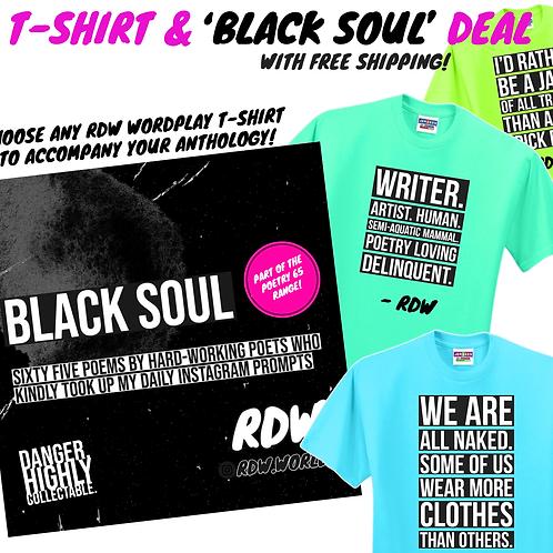 'BLACK SOUL' PAPERBACK T-SHIRT DEAL