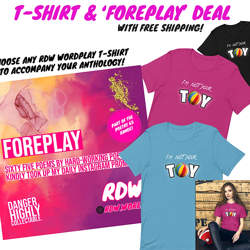 'FOREPLAY' PAPERBACK T-SHIRT DEAL