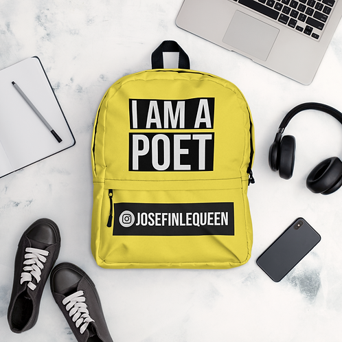 'I AM A POET' PERSONALISED BACKPACK