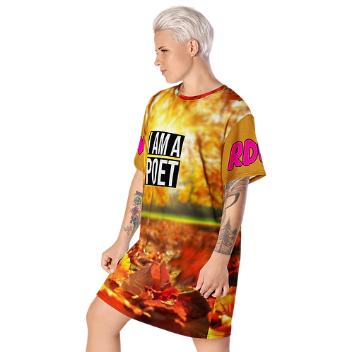 'THE AUTUMN CHILD' POETRY T-SHIRT DRESS