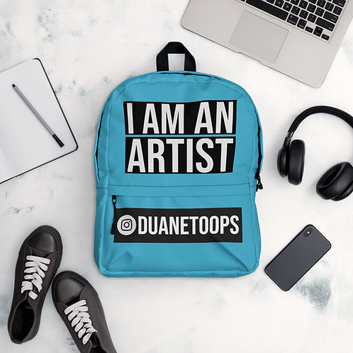 'I AM AN ARTIST' PERSONALISED BACKPACK