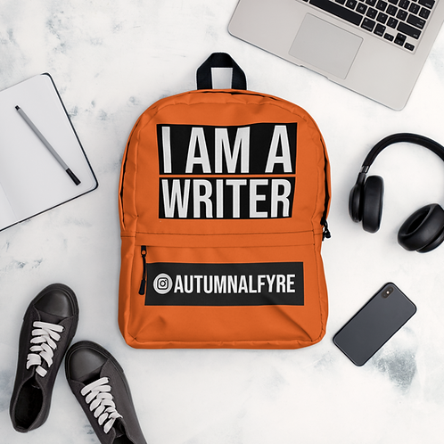 'I AM A WRITER' PERSONALISED BACKPACK