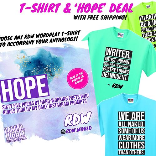 'HOPE' PAPERBACK T-SHIRT DEAL