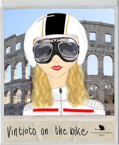Vintioto on the bike