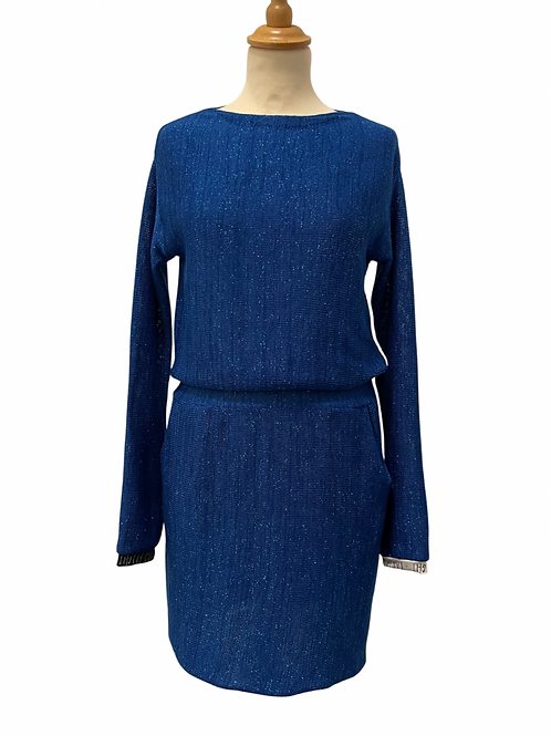 Royal blue dress with yellow line