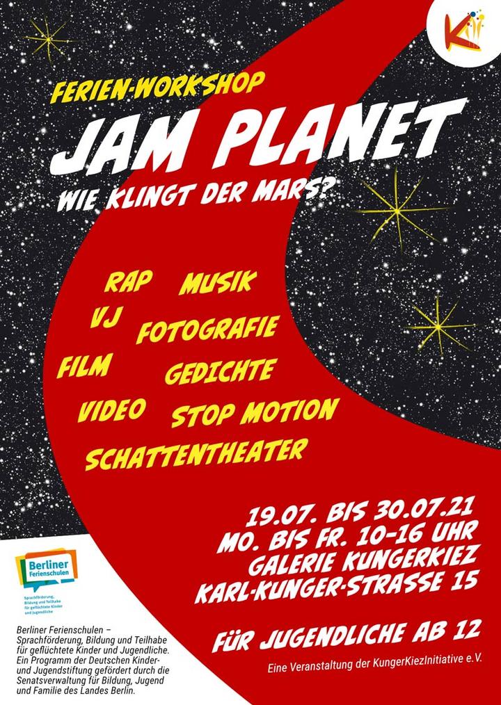 """Neue Ferien-Schule im Juli 21: """"Planet jam"""" - Licht- und Ton-Experimente auf dem Mars"""