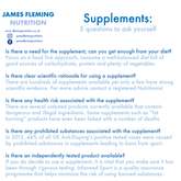 Supplements - 5 questions to consider
