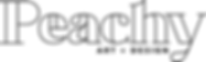 Logo for Peachy Art and Design.