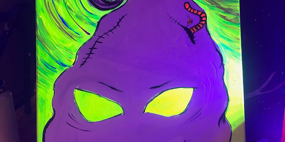 Blacklight Paint and Puff 8pm