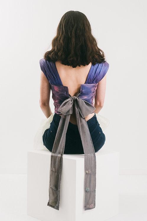 Iridescent Purple Tie Top