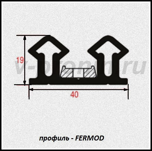 """уплотнитель холодильной камеры """"Fermod-67"""""""