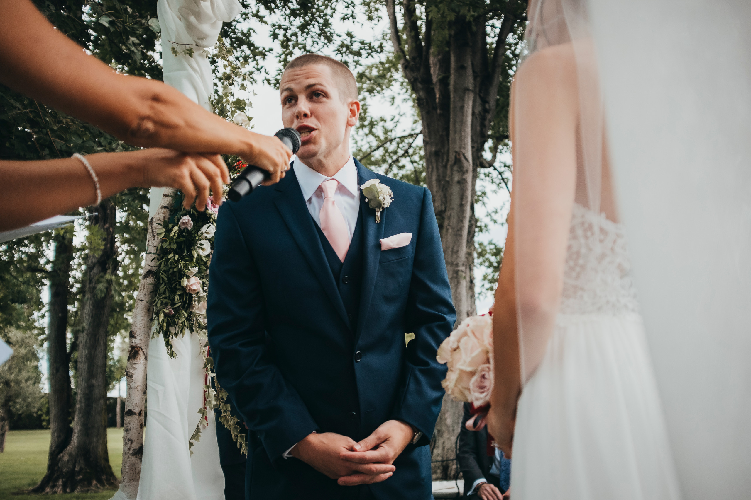 American wedding in Italy