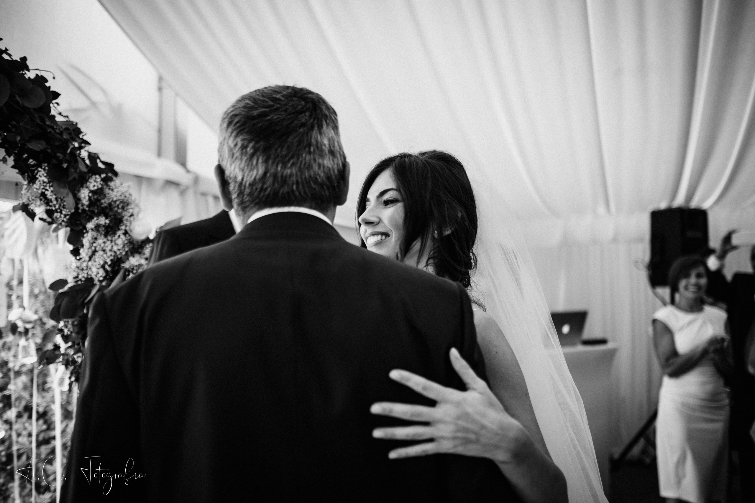 Dad and Bride emotions moment