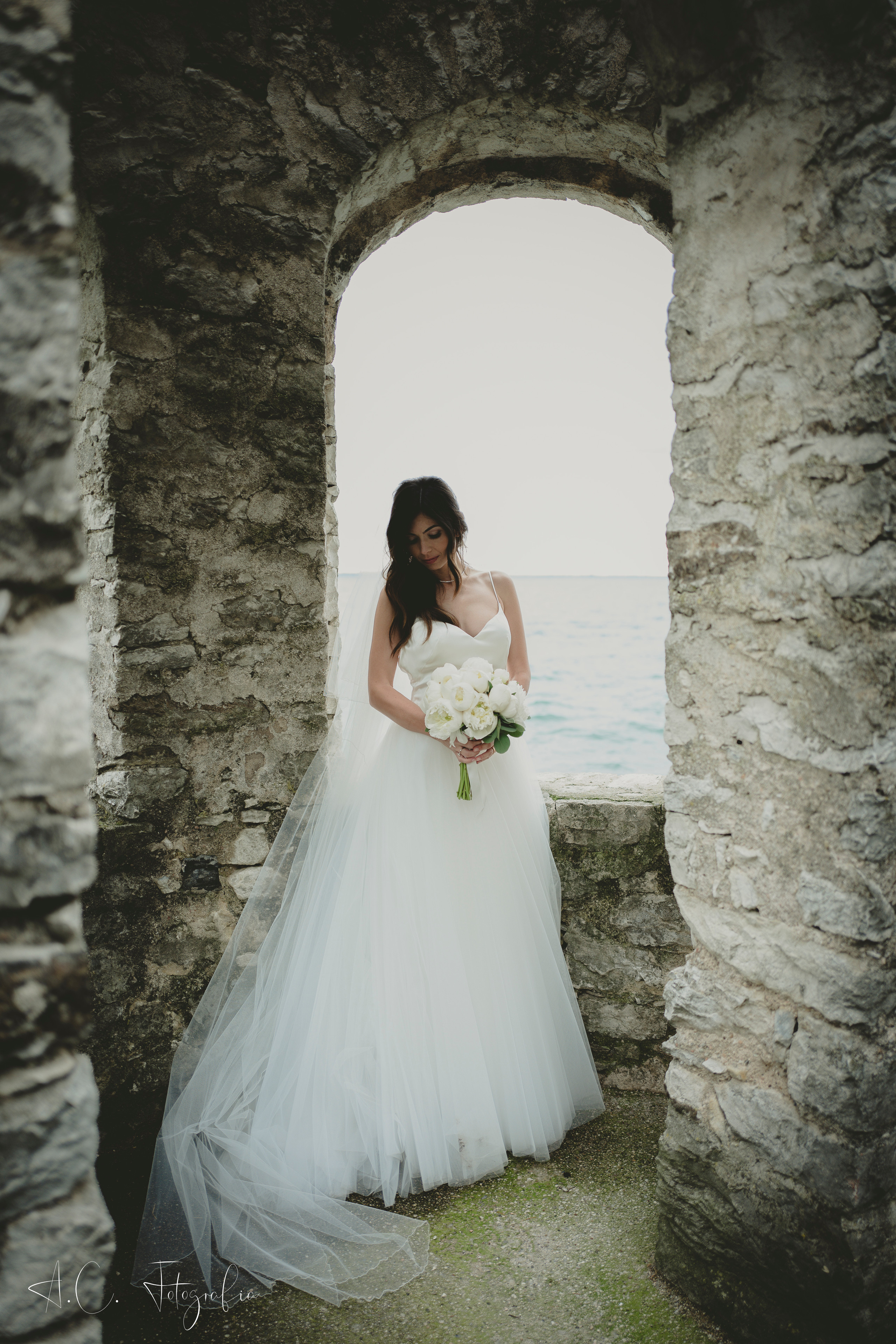 Beautiful bride portrait with Leica q
