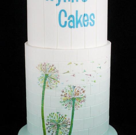 Dandelion tiled ombre cake