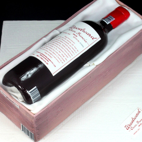 Personalised wine bottle cake