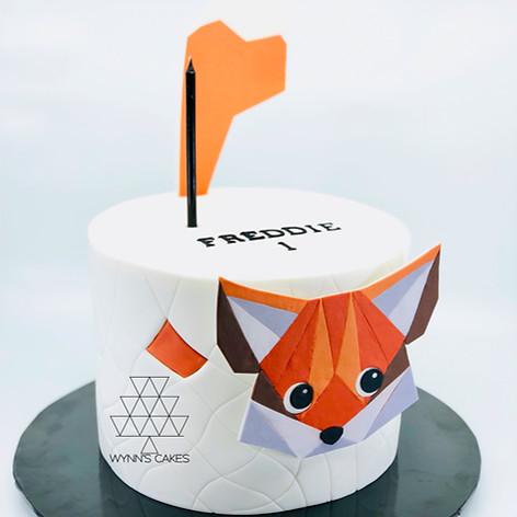 Geometric Fox Cake
