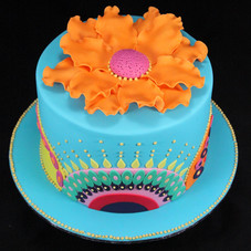 Indian inspired patterned cake