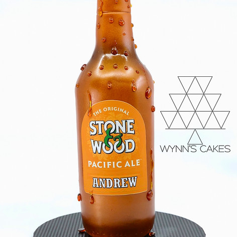 Beer Bottle Cake