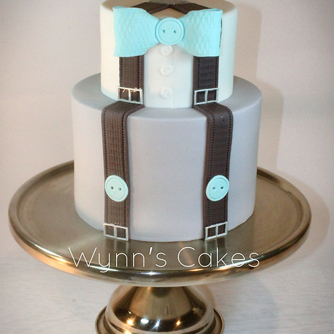 Little Man, bow tie and Suspenders Cake