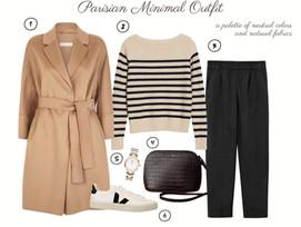Parisian Capsule Wardrobe - Classic Minimal Parisian Outfit