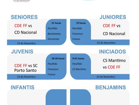 Jogos para este fim de semana (Futsal - Basquetebol)