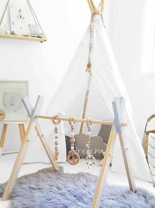 Nordic Wooden Baby Play Gym