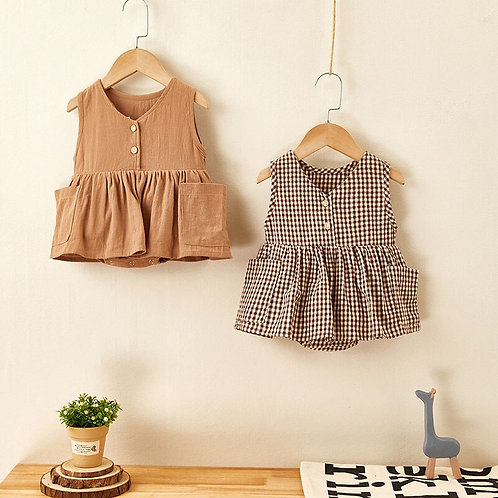 Sleeveless Baby Bodysuits