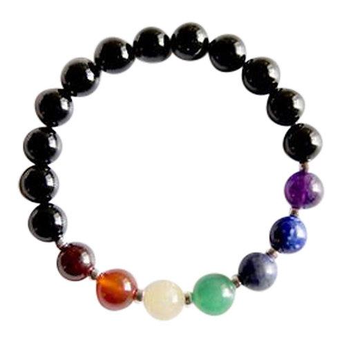 7 Chakras Sterling Silver Bracelet
