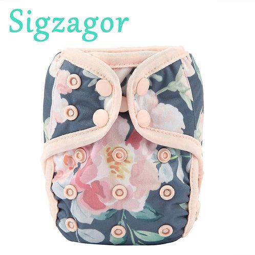 Newborn Baby Cloth Diaper, Adjustable Waterproof,4.4-10lbs, 2-5kg