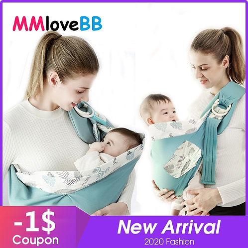 MMloveBB Baby Carrier Scarf Adjustable Front Facing Baby Carrier Soft Sling