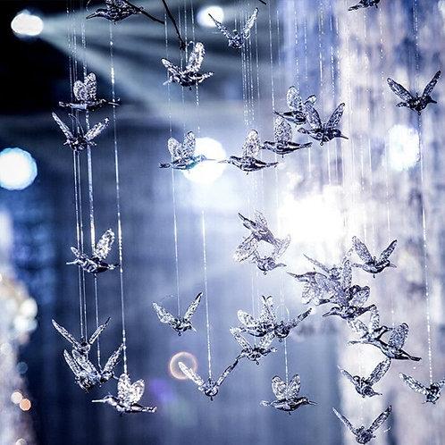 Transparent Acrylic European Hummingbird Decoration
