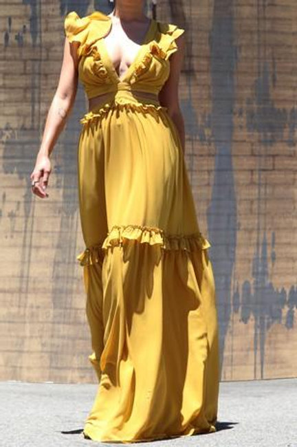 Cut To The Chase Maxi Dress