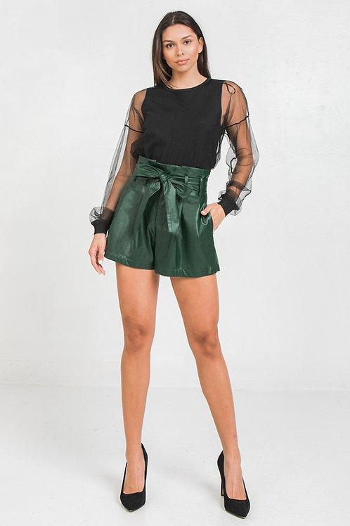 Demi Faux Leather Shorts