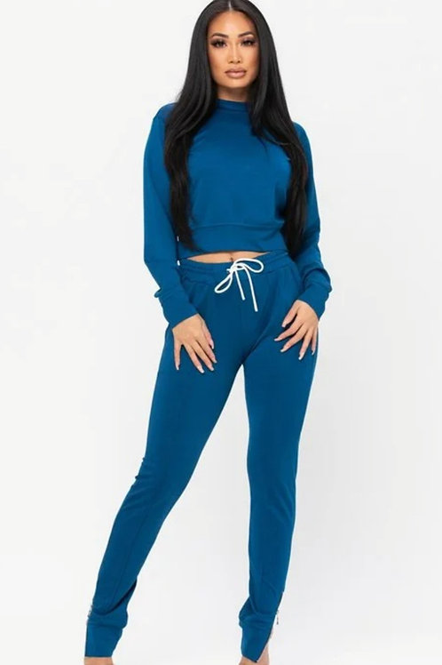 The Teal Track Suit